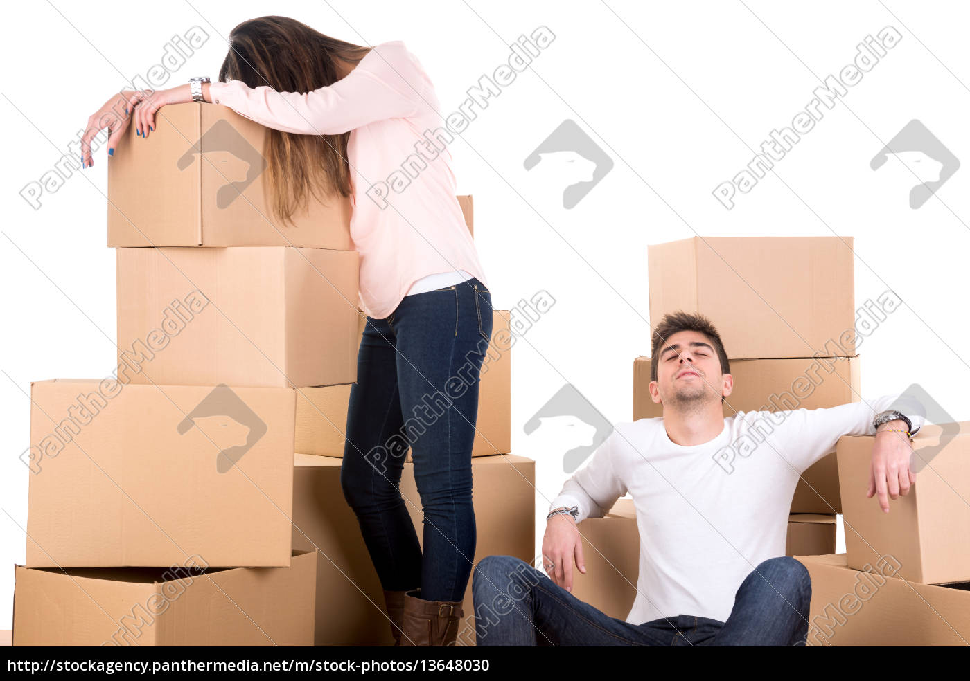 tired, couple, with, boxes - 13648030