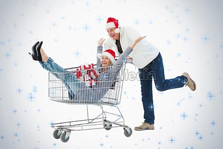 uroczysty starsza para w zimowe ubrania