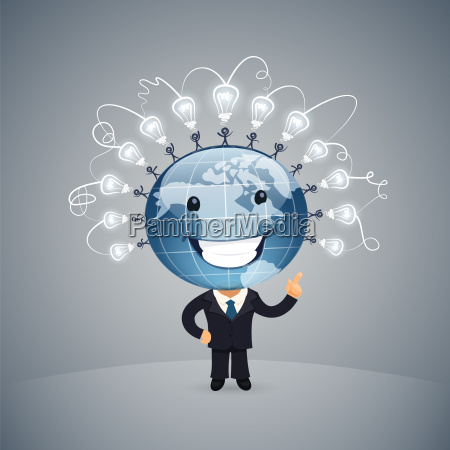 ilustracja wektorowa global idea