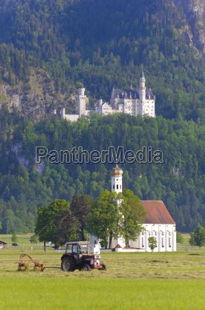 neuschwanstein castle and sanctuary of st