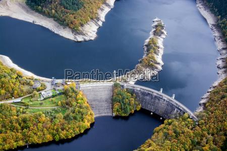 urfttalsperre urfttalsee see dam zbiornik zbiornik