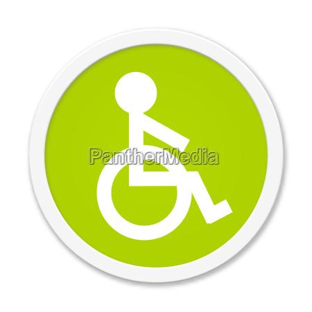 okragly zielony przycisk z symbolem wozka