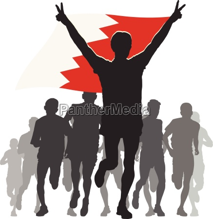athlete with the bahrain flag at