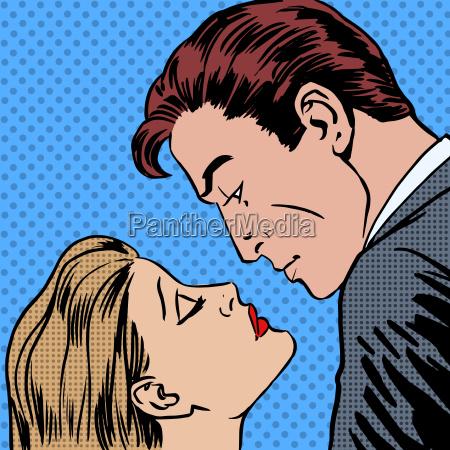 milosc mezczyzni i kobiety pocalunek pop