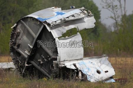 wypadek crash katastrofa wrak strandgut absturz