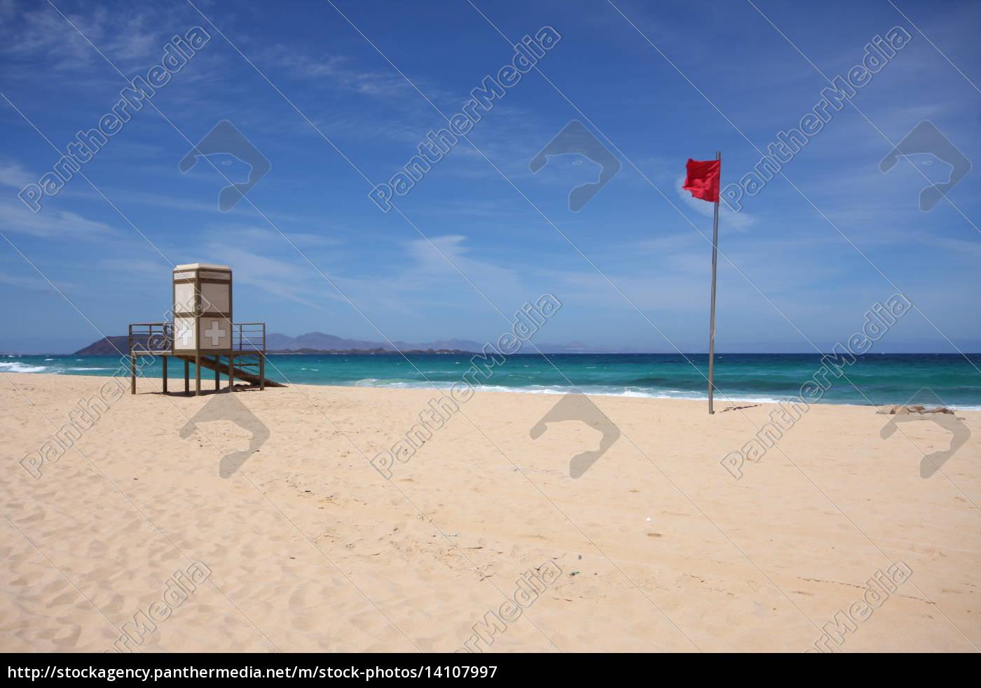 flaga, był, kanarek, ratownik, badeverbot, stand - 14107997
