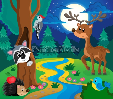forest animals topic image 8