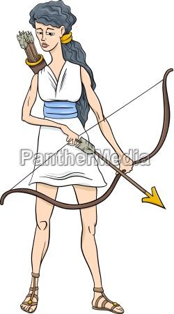 grecki bogini artemis kreskowka