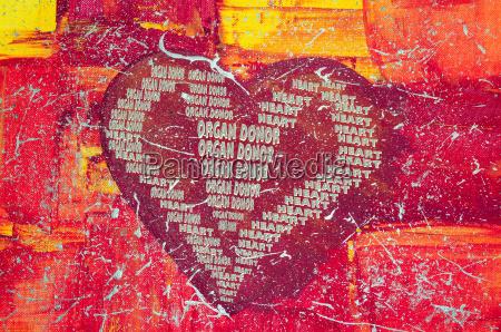 serce z napisem dawca narzadow
