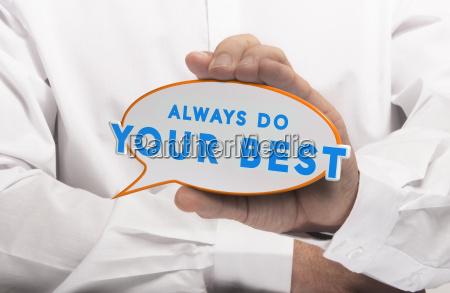 business lub osobistej motywacji