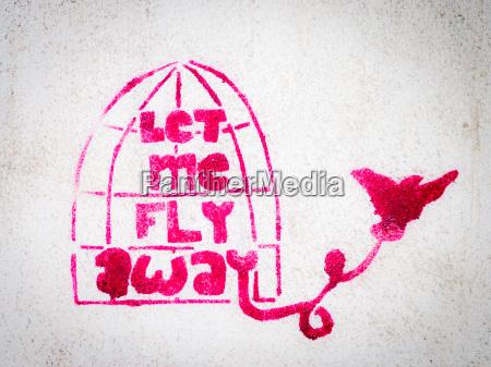 ptak wolnosc freedom swoboda graffiti grafitti