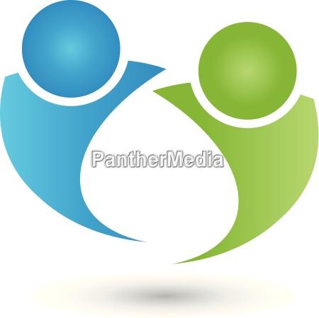 dwie osoby logo ludzie para