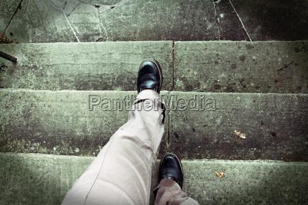 kobieta womane baba schodek schody strach