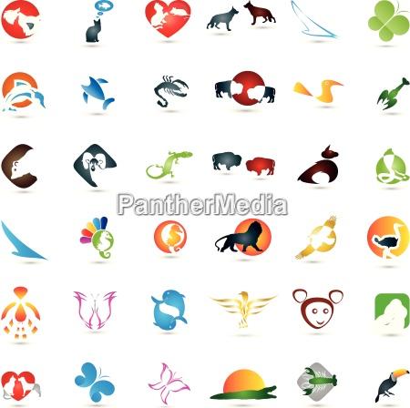 duzy zbior zwierzat logo