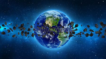 planet earth z asteroida w uniwersum