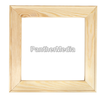 square wooden picture frame on white