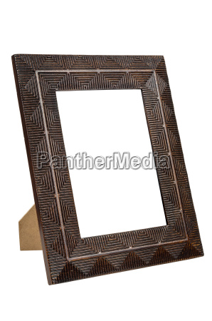 decorative empty bronze picture frame