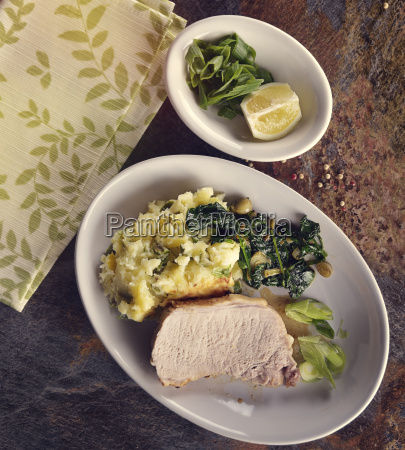 tluczone ziemniaki z wieprzowina