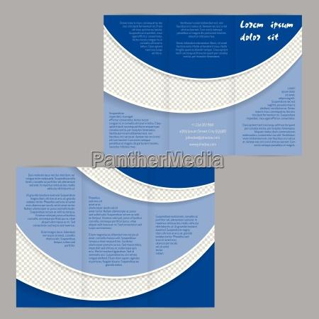 tri krotnie broszura szablon ulotki z