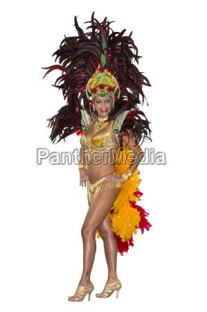 karnawal samba dancer ubrany w stroj