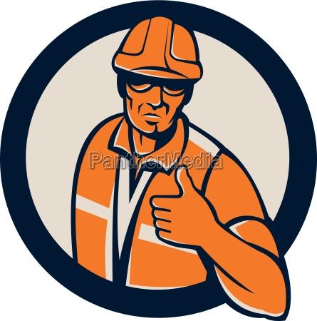pracownik budowlany rekomendacji kolo retro