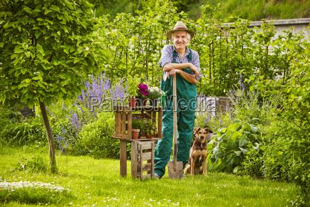 ogrodowa psia kapeluszowa trwanie ogrodniczka