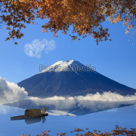 obraz swietej gory fuji w tle