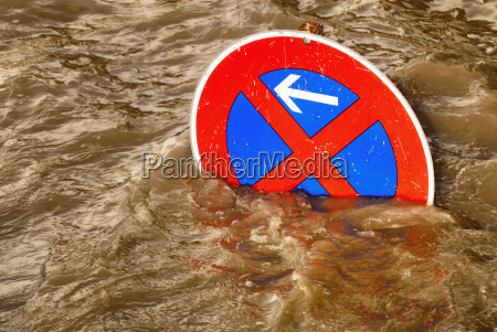 no parking in the flood