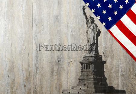 niebieski pomnik ameykanski statula turystyka nowy