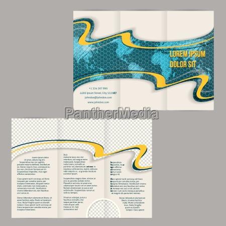 tri krotnie broszura szablon z greplowanej