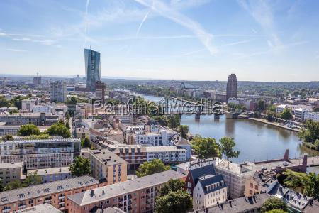 river main and city of frankfurt