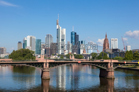 skyline, frankfurt, main, hesja, niemcy - 14475211