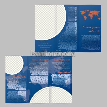 szablon broszury z mapa swiata i