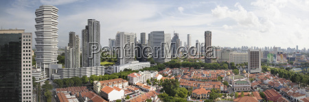 kampong glam in singapore aerial view
