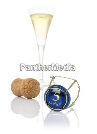 wieczka do szampana oznaczone jako 5