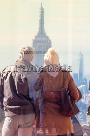 tourist taking photo of new york