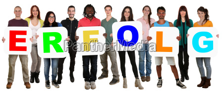 grupa mlodzi ludzie multicultural zachowac sukces