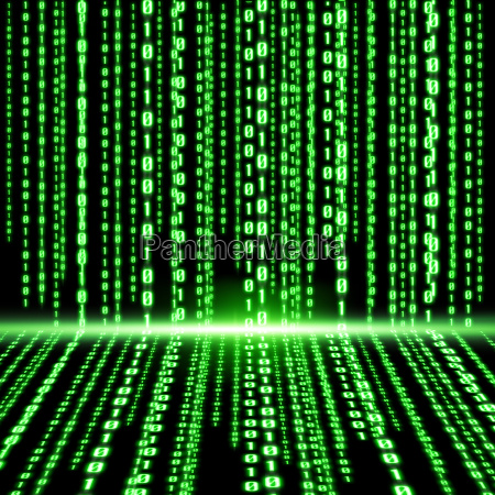 zielony kod binarny