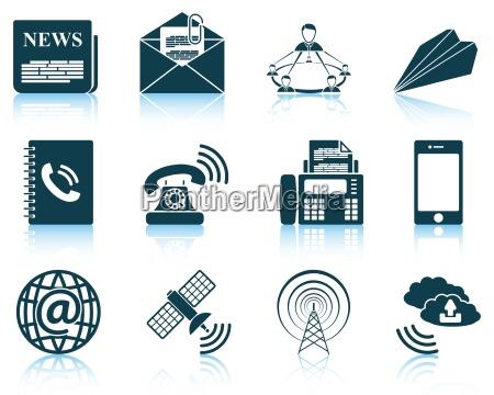 zestaw ikon komunikacyjnych