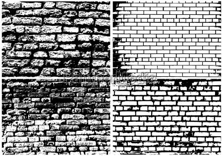 zestaw abstrakcyjny mur z cegly grunge
