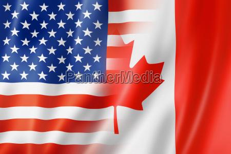 usa ameryka kanada flaga bandera canadian