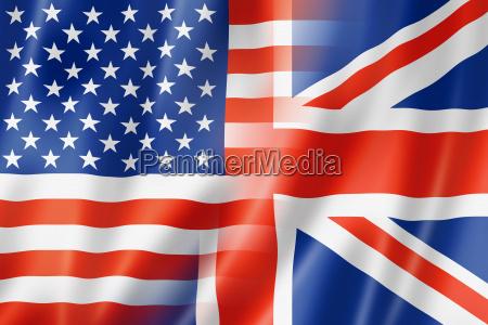 usa i flaga wielkiej brytanii