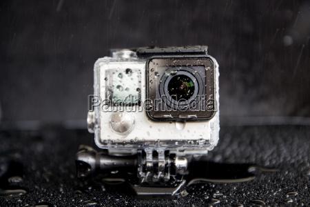 zblizenie wody splash na ekstremalnej kamery