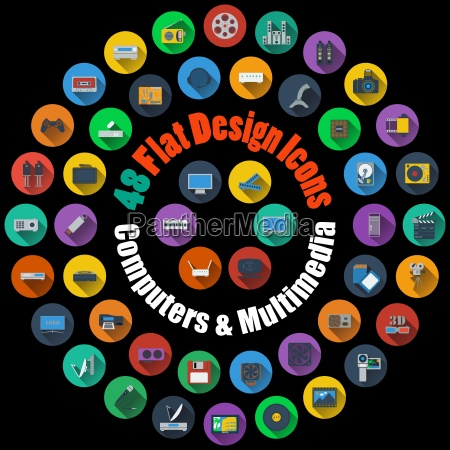 ikony komputerowe i multimedialne