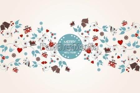 vintage christmas tla z kwiatow i