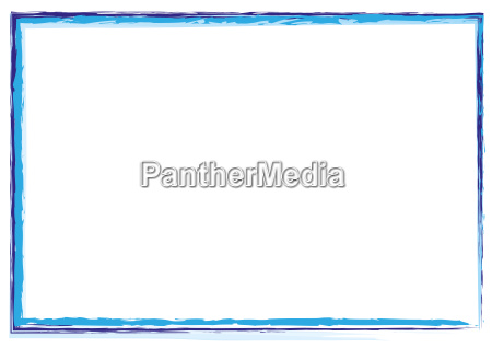 pomalowane kolorowe ramki w poprzek linii
