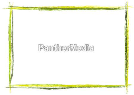 kolorowa ramka pomalowana w poprzek linii