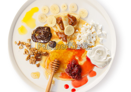crepes with toppings