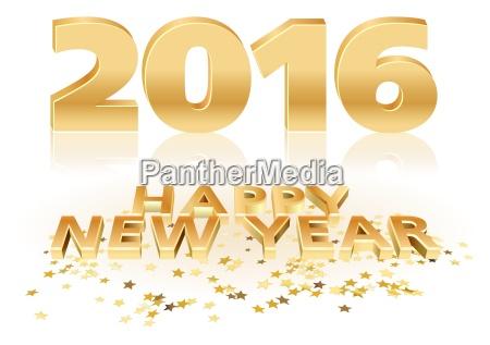zloty szczesliwego nowego roku