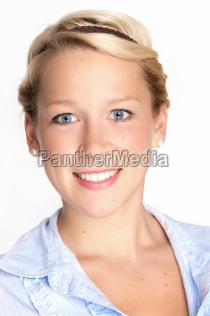 blond womans face